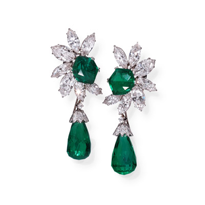 GCAL Jewelry Photography Diamond Emerald Earrings