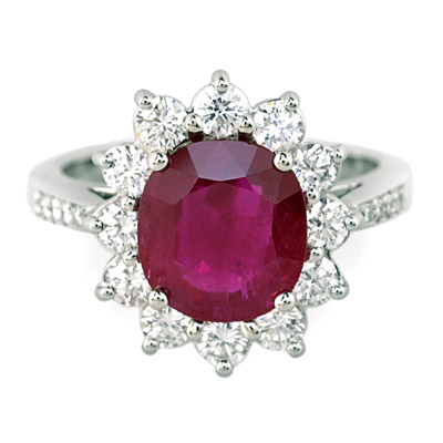 GCAL Jewelry Photography Diamond Gemstone Ruby Ring