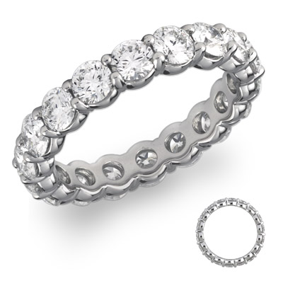 GCAL Jewelry Photography Platinum Diamond Eternity Band Anniversary Ring